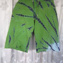 Lucky Brand Dungarees Green Tie Die Cutt-Off Shorts Sz Xxs/m (Sho-7) Photo