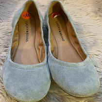 Lucky Brand Erin Ballet Flats Women's Size 9.5m Lead Blue Oil Suede New Photo