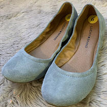 Lucky Brand Erin Ballet Flats Women's Size 9 M Lead Blue Oil Suede New Photo