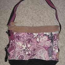 Lucky Brand Ex-Large Asian Crane Purple Runaway Boho Hobo Shoulder Bag Photo