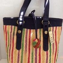 Lucky Brand Extra Large Multi Colored Tote Handbag Purse Photo