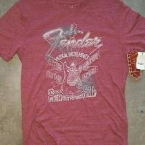 Lucky Brand Fender Aucustic Electric Guitar Amplifier Shirt Medium Soft Tshirt Photo