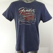 Lucky Brand Fender Giutars Men's Cotton Blend Graphic Tee T-Shirt L Photo