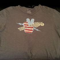 Lucky Brand Fender Guitar Mens T-Shirt (Made in Usa)  Sz L  Nwt  Photo
