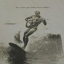 Lucky Brand Fender Guitar Surfer T-Shirt Size Large Free Ship Photo