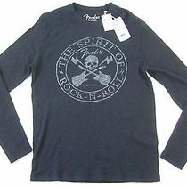 Lucky Brand Fender Guitar Vintage Skull Rock Xl Thermal Type Crewneck Sweater  Photo