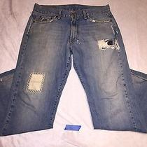 Lucky Brand Fender Relaxed Boot Cut Jeans Destroyed Sz- 30 (Measure 33x30.5) Photo