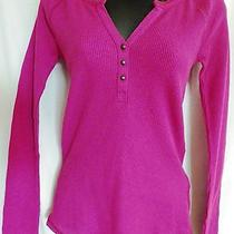 Lucky Brand Festival Fuschia Celine Henley Thermal Shirt - Xs - Nwt Photo