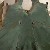 Lucky Brand Green Suede  /  Patent Leather Large Hobo Handbag Photo