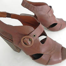 Lucky Brand Heels Platform Leather Us 7.5 M  Brown Photo