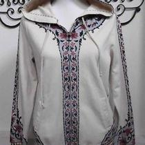 Lucky Brand Hoodie Sweatshirt Floral Size L Euc Anthropologie Beautiful Jacket Photo