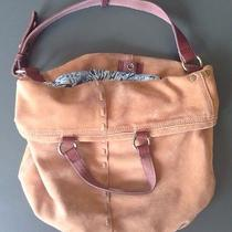 Lucky Brand Italian Lamb Leather Brown Suede Hippie Hobo Tote Photo