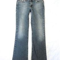 Lucky Brand Jeans Sz 8 / 29  Faded Soft Worn Torn Hems Biker Grunge W30 X 33l Photo