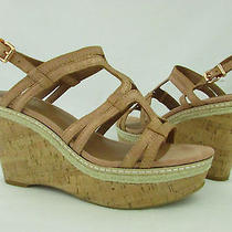 Lucky Brand Keena Rose Gold Leather Strappy Wedge Womens Sz 10m Nwb Photo