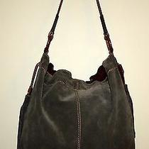 Lucky Brand - Large Chocolate Grey Suede & Leather Hobo/shoulder Handbag Photo