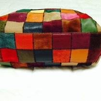 Lucky Brand Large Leather Multi-Color Patchwork Hobo/shoulder Bag Photo