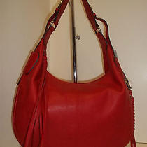 Lucky Brand Lb1121 Haute Red Leather Glendale Hobo Shoulder Handbag Photo