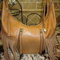 Lucky Brand Leather Purse Loredo With Fringe Photo