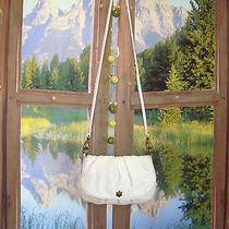 Lucky Brand  Likenu Off-White Italian Lamb Leather Crossbody 400752 Photo