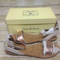 Lucky Brand Lk Covela Nigori Rose Gold Dove Sandal Womens Size 10 M Photo
