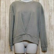 Lucky Brand Long Sleeve Top Stone Wash Gray Sweatshirt Sweater Relaxed Size Xs Photo