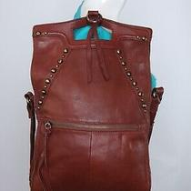 Lucky Brand Med Lrg Brown Leather Shoulder Hobo Tote Crossbody Satchel Purse Bag Photo