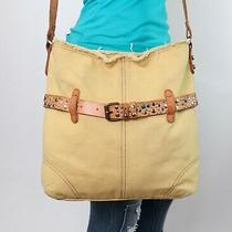 Lucky Brand Med Lrg Yellow Leather Shouldr Hobo Tote Satchel Crossbody Purse Bag Photo