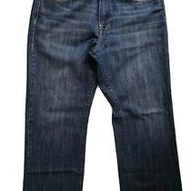 Lucky Brand Men Denim Straight Leg Jeans Blue Size 34 Photo