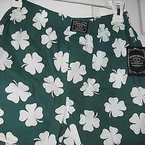 Lucky Brand Men's Boxers Shamrock Clover Green White Size S Photo
