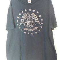 Lucky Brand Men's Xl Tshirt Blue & Gray Photo