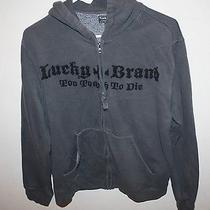 Lucky Brand Men's Zip Up Hoodie  Size Medium Photo