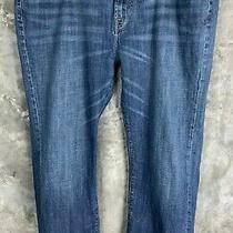 Lucky Brand Mens 181 Relaxed Straight Blue Jeans Sz 44 X 34 (Inseam 32