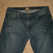 Lucky Brand Mens Vintage Original Straight Leg Blue Jeans Size 34 X 31 Photo