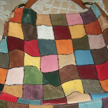 Lucky Brand Multi Color Patchwork  Large Tote Hobo  Shoulder Bag Photo