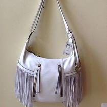 Lucky Brand Nwt 198 Lorendo Vanilla Leather Bag Hobo Handbag Fringe Crossbody Photo