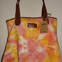 Lucky Brand Orange Tie Dye Small Trippin Out Tote Bag Purse New Photo