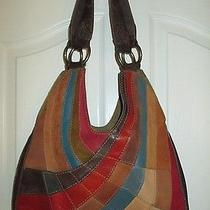 Lucky Brand Patchwork Leather Hobo Shoulder Bag Purse Vintage Photo