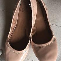 Lucky Brand Patent Ballet Flats Sz 10 Pink Blush Cinched Slip on Casual Preppy Photo