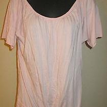 Lucky Brand Pink Drawstring Topshirt Blouse Sz S Photo