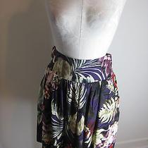 Lucky Brand Purple Floral Skirt M  Photo