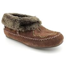 Lucky Brand Sabrina Clover Womens Size 8 Brown Moccasin Slippers Shoes - No Box Photo