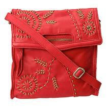 Lucky Brand Savannah Fold Haute Red Crossbodyshoulder Bag Retail 178.00 Photo