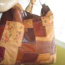 Lucky Brand Slouchy Whipstitch Hobo Tote Handbag in Colors of Fall  Euc Photo
