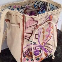 Lucky Brand Stichted Art Canvas Crossbody Photo