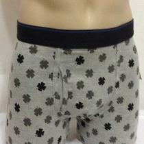 Lucky Brand Stretch Boxer Brief  Large (36-38)  Gray Clovers Photo