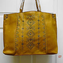Lucky Brand Stud Embellished Newport Tote / Handbag Cognac New With Tags Photo