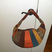 Lucky Brand Suede and Fabric Multi-Colored Hobo/shoulder Bag Photo