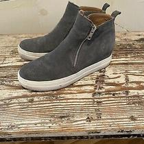Lucky Brand Suede Booties Gray Size 8 Zip-Up Photo
