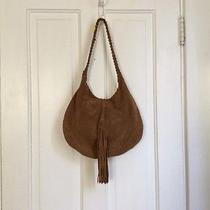Lucky Brand Suede Leather Handbag Hobo Shoulder  10