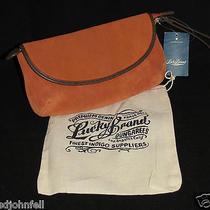 Lucky Brand Suede Wristlet Pumpkin Orange Hkd0005 Nwt Photo
